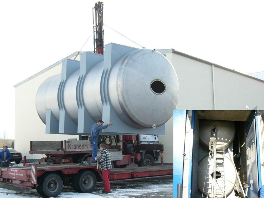 Löschwasserbehälter - Zwillingsausführung in Sandwichbauweise inkl. Montage;