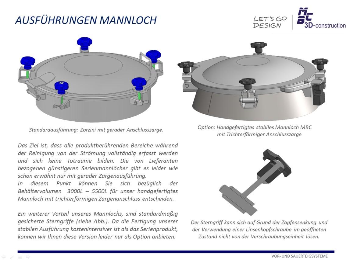 Vertikale Sauerteigbehälter 600L - 5500L